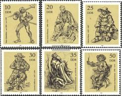 DDR 2347-2352 (completa.edizione) Usato 1978 Acqueforti - Gebraucht