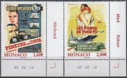 MONACO 2016 / Y. T . N° 3038 / 3039  - SERIE LES FILMS DE GRACE KELLY - 2 TP NEUFS ** - Monaco