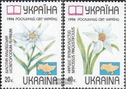 Ukraine 186-187 (complete.issue.) Unmounted Mint / Never Hinged 1996 Affected Plant - Ukraine