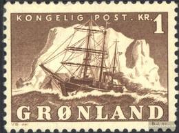 Dänemark - Grönland 35 MNH 1950 Arktisschiff - Nuovi