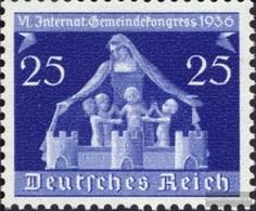 Deutsches Reich 620 Con Fold 1936 6. Comune Congresso - Deutschland