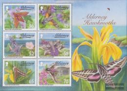 United Kingdom - Alderney Block28 (complete.issue.) Unmounted Mint / Never Hinged 2011 Owls - Alderney