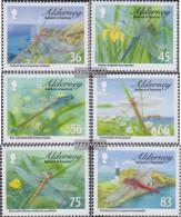 United Kingdom - Alderney 369-374 (complete Issue) Unmounted Mint / Never Hinged 2010 Dragonflies - Alderney