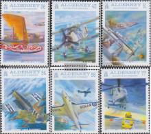United Kingdom - Alderney 357-362 (complete.issue.) Unmounted Mint / Never Hinged 2009 Marineluftfahrt - Alderney