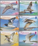 United Kingdom - Alderney 351-356 (complete.issue.) Unmounted Mint / Never Hinged 2009 Waders - Alderney
