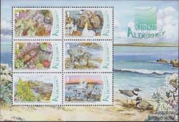 United Kingdom - Alderney Block19 (complete Issue) Unmounted Mint / Never Hinged 2007 Wetlands - Alderney