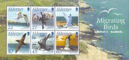 United Kingdom - Alderney Block14 (complete Issue) Unmounted Mint / Never Hinged 2003 Migratory: Seabirds - Alderney