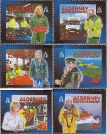 United Kingdom - Alderney 199C-204C (complete Issue) Unmounted Mint / Never Hinged 2002 Rescue - Alderney