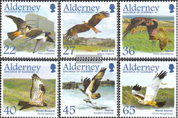 United Kingdom - Alderney 188-193 (complete.issue.) Unmounted Mint / Never Hinged 2002 Migratory: Birds Of Prey - Alderney
