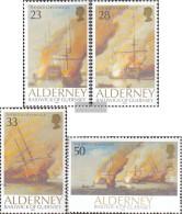 United Kingdom - Alderney 55-58 (complete.issue.) Unmounted Mint / Never Hinged 1992 Battle Of La Hogue - Alderney