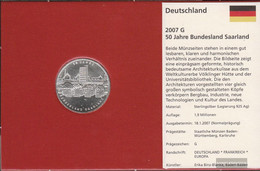 FRD (FR.Germany) Jägernr: 525 2007 G Stgl./unzirkuliert Silver Stgl./unzirkuliert 2007 10 Euro Saar - Germany
