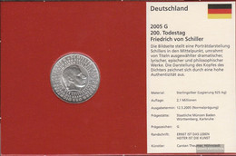 FRD (FR.Germany) Jägernr: 513 2005 G Stgl./unzirkuliert Silver Stgl./unzirkuliert 2005 10 Euro Friedrich Of Schiller - Germany