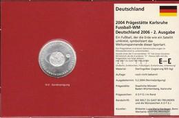 FRD (FR.Germany) Jägernr: 504 2004 G Stgl./unzirkuliert Silver Stgl./unzirkuliert 2004 10 Euro Football-WM 2006 II - Germany