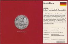 FRD (FR.Germany) Jägernr: 501 2003 F Stgl./unzirkuliert Silver Stgl./unzirkuliert 2003 10 Euro Landscapes In Germany - Germany