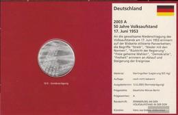 FRD (FR.Germany) Jägernr: 500 2003 A Stgl./unzirkuliert Silver Stgl./unzirkuliert 2003 10 Euro Uprising 17. June 1953 - Germany