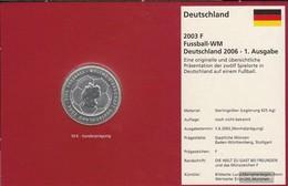 FRD (FR.Germany) Jägernr: 499 2003 F Stgl./unzirkuliert Silver Stgl./unzirkuliert 2003 10 Euro Football-WM 2006 - Germany