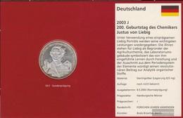 FRD (FR.Germany) Jägernr: 498 2003 J Stgl./unzirkuliert Silver Stgl./unzirkuliert 2003 10 Euro Justus Of Liebig - Germany