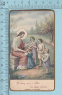 Religion, Gold Ring  - Laissez Venir A Moi ...   - DSR 583 - Holy Card, Image Pieuse, Santini - Santini