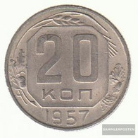 Soviet Union Km-number. : 125 1957 Extremely Fine Copper-Nickel Extremely Fine 1957 20 Kopeken Crest - Russia