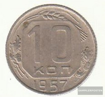 Soviet Union Km-number. : 123 1957 Extremely Fine Copper-Nickel Extremely Fine 1957 10 Kopeken Crest - Russia