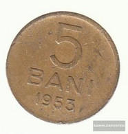 Romania Km-number. : 83 1956 Extremely Fine Copper-Nickel-zinc Extremely Fine 1956 5 Bani Crest - Romania