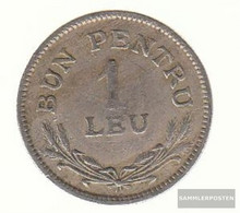 Romania Km-numBer. : 46 1924 (B) Extremely Fine Copper-Nickel Extremely Fine 1924 1 Leu Gekröntes Crest - Romania
