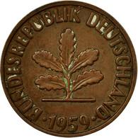 Monnaie, République Fédérale Allemande, 2 Pfennig, 1959, Stuttgart, B+ - [ 7] 1949-… : FRG - Fed. Rep. Germany