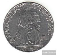 Vatikanstadt Km-number. : 34 1942 Stgl./unzirkuliert Steel Stgl./unzirkuliert 1942 50 Centesimi Justicia - Vatikan