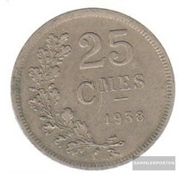 Luxembourg Km-number. : 42 1938 Very Fine Copper-Nickel Very Fine 1938 25 Centimes Crest - Luxembourg