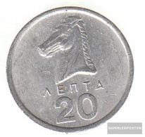 Greece Km-number. : 114 1978 Extremely Fine Aluminum Extremely Fine 1978 20 Lepta Hengst - Greece