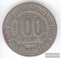 Chad 3 1984 Extremely Fine Nickel 1984 100 Francs Antelope - Tchad