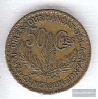 Cameroon Km-number. : 1 1925 Extremely Fine Aluminum-Bronze Extremely Fine 1925 50 Centimes Laureate - Cameroon