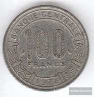 Cameroon Km-number. : 16 1972 Very Fine Nickel 1972 100 Francs Antelope - Cameroun