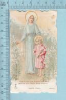 Religion, Die Cut - C'est A Vous Que Je Donne Mon Coeur - Holy Card, Image Pieuse, Santini - Images Religieuses