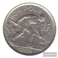 Luxembourg Km-number. : 35 1928 Extremely Fine Nickel Extremely Fine 1928 1 Franc Gekröntes Monogram - Luxembourg