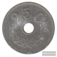 Luxembourg Km-number. : 29 1916 Very Fine Zinc Very Fine 1916 25 Centimes District To Hole - Luxembourg