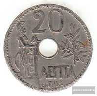 Greece Km-number. : 64 1912 Extremely Fine Nickel Extremely Fine 1912 20 Lepta Crown - Greece