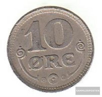 Denmark Km-number. : 818 1922 Extremely Fine Copper-Nickel Extremely Fine 1922 10 Öre Gekröntes Monogram - Denmark