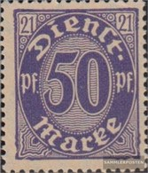 German Empire D21I, Oval Under M Of Stamp Broken With Hinge 1920 Numbers With 21 - Nuovi