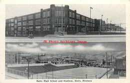 281457-Montana, Butte, High School & Stadium, Silver Bow News By Graycraft - Butte