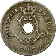 Monnaie, Belgique, 5 Centimes, 1905, TB+, Copper-nickel, KM:55 - 1865-1909: Leopold II