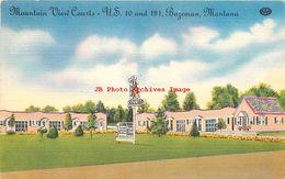 281481-Montana, Bozeman, Mountain View Courts, Highway 10 & 191, 1951 PM, Colourpicture No K 1127 - Bozeman
