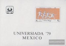 Mexiko Block 24 (completa Edizione) MNH 1979 Universiade - Mexiko
