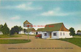281483-Montana, Bozeman, Bozeman Auto Court, Highway 10, E.B. Thomas No E-13833 - Bozeman