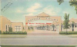 281485-Montana, Bozeman, Nicholson's Cottage Court, Highway 191, Mid-West Map Co - Bozeman