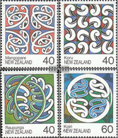 New Zealand 1017-1020 (complete Issue) Unmounted Mint / Never Hinged 1988 Dachgiebel - Unused Stamps