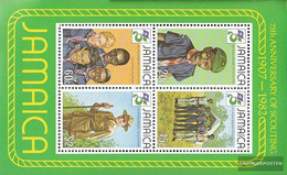Jamaica Block20 (complete Issue) Unmounted Mint / Never Hinged 1982 75 Years Scouts - Jamaica (1962-...)