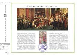 """"""" SACRE DE NAPOLEON A NOTRE DAME DE PARIS """" Sur Feuillet CEF 1er Jour De 1973. Parfait état. N° YT 1776 ... - Napoleon"""
