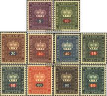 Liechtenstein D35-D44 (complete Issue) Unmounted Mint / Never Hinged 1950 Service Marks - Ongebruikt