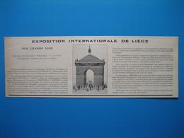 (1905) Champagne MERCIER à L'Exposition Internationale De Liège - Advertising